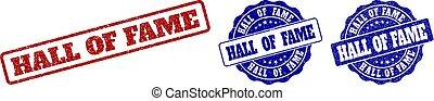 HALL OF FAME Grunge Stamp Seals