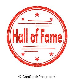 Hall of fame sign or stamp