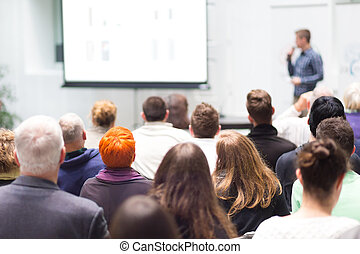 hall., přednáška, audience