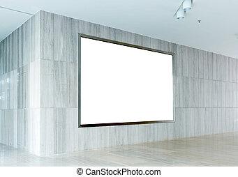 Hall subway station blank billboard - Blank billboard in...