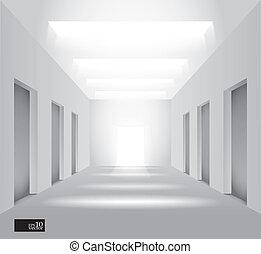 Hall with lights