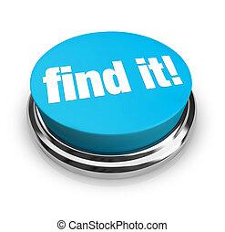 hallazgo, él, -, azul, botón