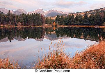 Hallet Peak at Rocky Mountain National Park, Co