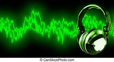 hallgat hallgat zene, (+clipping, út, xxl)