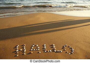 hallo on beach