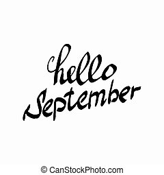 hallo, september.