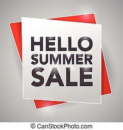 hallo, summer!, verkoop, poster, ontwerpen basis