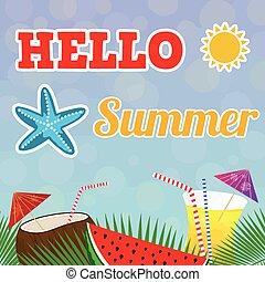 hallo, zomer, achtergrond