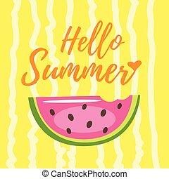 hallo, zomer, ontwerp