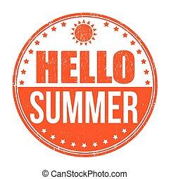 hallo, zomer, postzegel