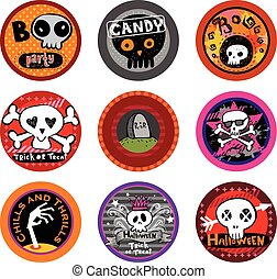 Hallooween Vector drink coasters