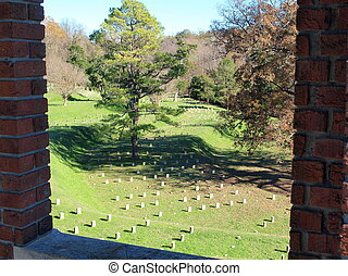 Hallowed Ground- Window View - A view of part of the...