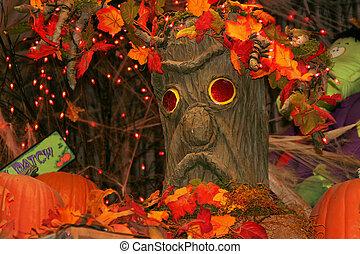 halloween, árbol