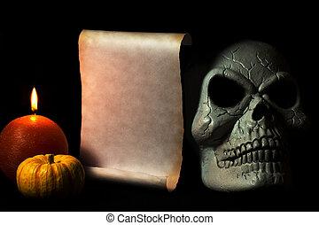 halloween, événement, invitation