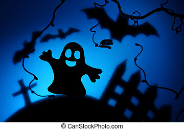 halloween άγνοια , με , φάντασμα