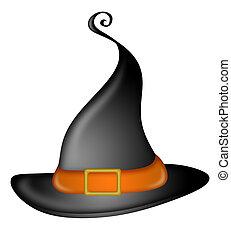 halloween, 모자, 마녀