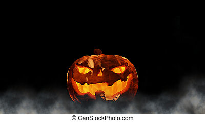 Halloween 3d-illustration evil Halloween pumpkin