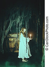 ghost girl in a nightgown