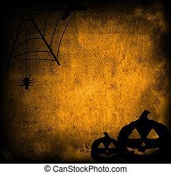 halloween, abstract, achtergrond, met, pompoen, vrienden