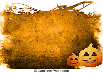 Halloween abstract Background with pumpkin friends