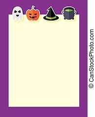halloween, achtergrond, iconen