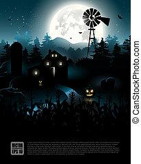 halloween, affisch