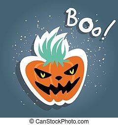 halloween angry pumpkin