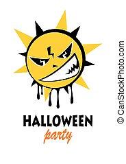 halloween angry sun