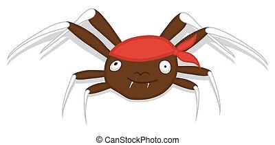 halloween, araña, vector