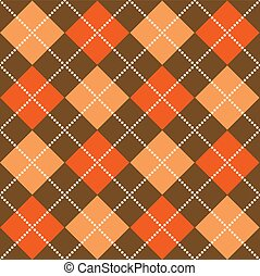 Halloween Argyle - Background illustration of orange and...