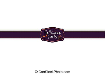Halloween attributes - ribbon and label