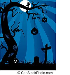 halloween-, avbild, hemsökt av spöken