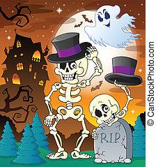 halloween, avbild, tecken, 8