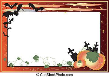 Halloween bacground. - Halloween bacground-frame with...