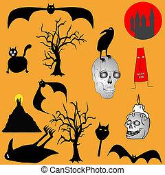 Halloween backgroud - various graph