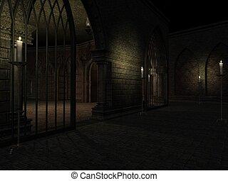 Halloween Background - 3d render of a halloween background