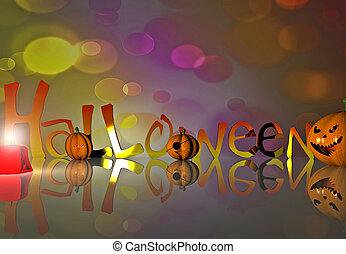 Halloween background - 3D