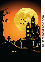 Halloween background for Halloween poster