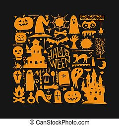 Halloween background for your design