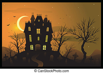 Halloween background - Halloween mansion background