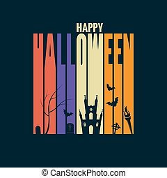 halloween background holiday design concept