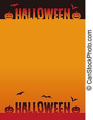 Halloween background illustration with jack o lantern
