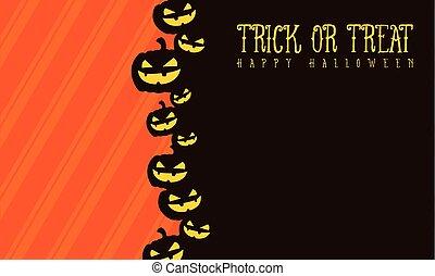 Halloween background pumpkin style