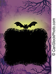 Halloween Background Purple