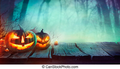 Halloween design with pumpkins - Halloween background. ...