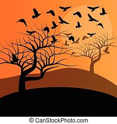 Halloween background vector concept