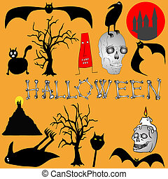 Halloween background - vector