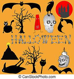 Halloween background - vector
