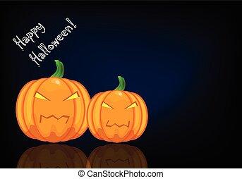 Halloween background - Vector halloween background with...