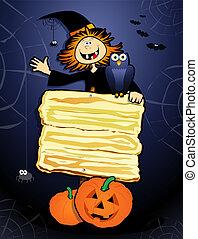 Halloween background, vector